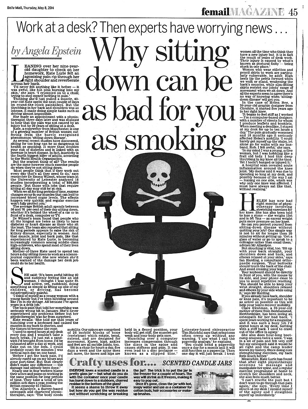 Why sitting down can be as bad for you as smoking